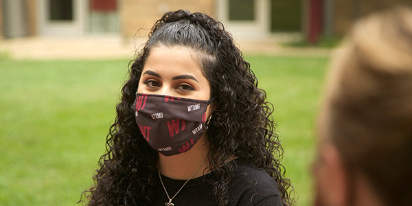 WT Student Wearing a Mask