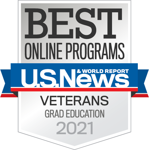 Badge-OnlinePrograms-Veterans-Graduate-Education-2021