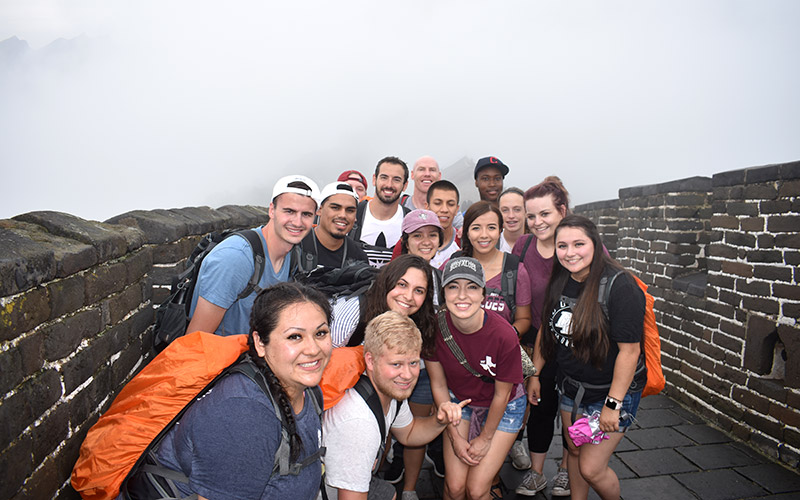 WT Engineering students at the Great Wall of China
