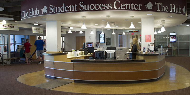 Front desk of Student Success Center