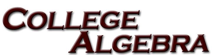 Virtual Math Lab - College Algebra