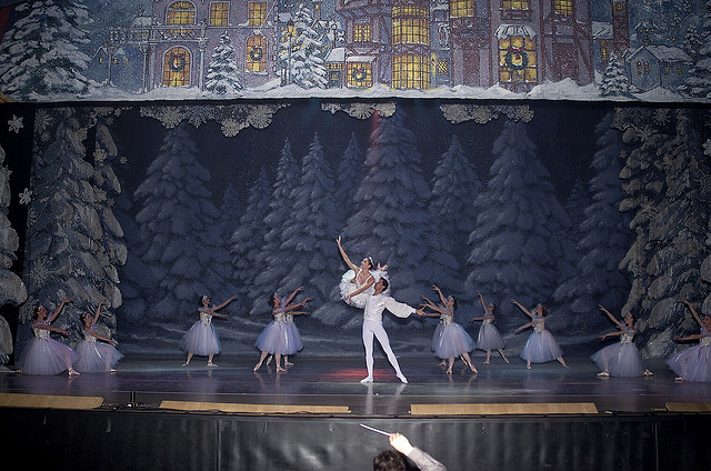 Dancers performing the Nutcracker.