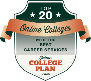 Top 20 Online Colleges with the Best Career Services Badge