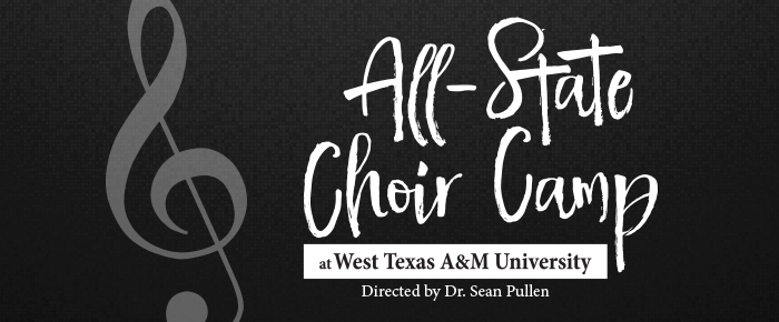 All-State Choir Camp at West Texas A&M University