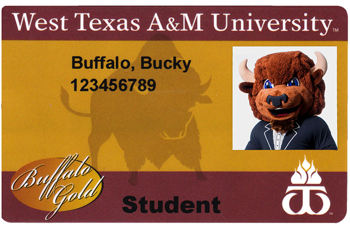 West Texas A M University  Buffalo Gold Card 694c5dd6027