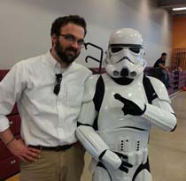 Dr. Tim Bowman and Storm Trooper
