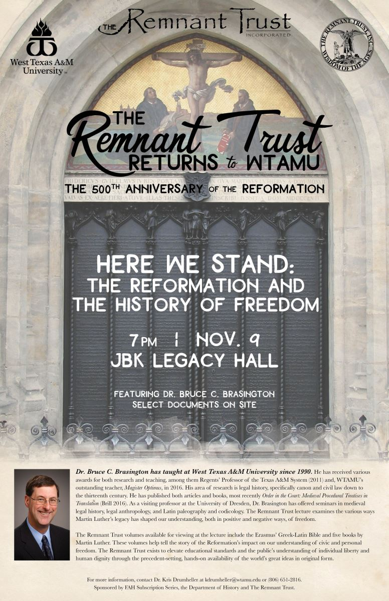 The Remnant Trust lecture featuring Dr. Bruce Brasington