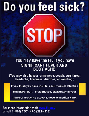 Stop Flu!  Do you feel Sick?