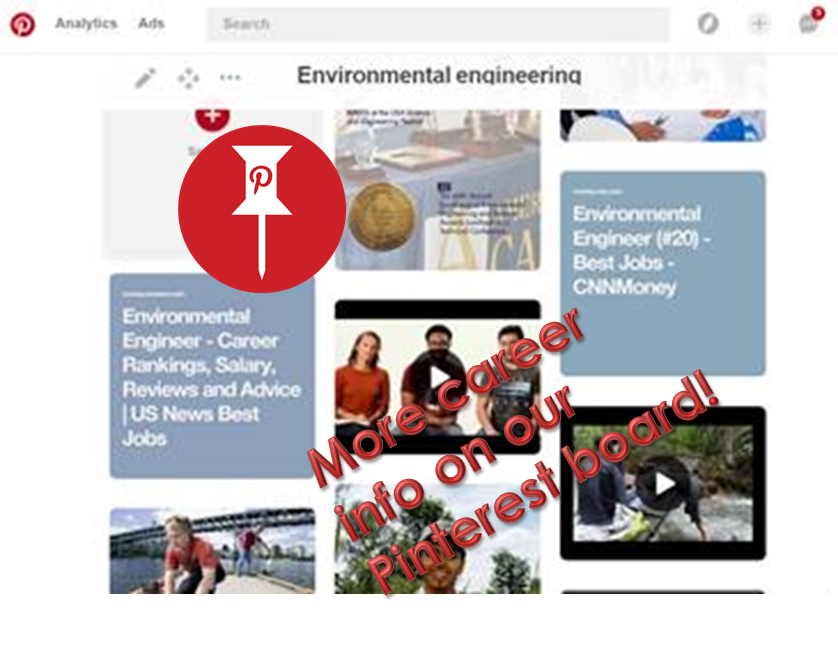Pinterest image teaser, linking to environmental engineering board