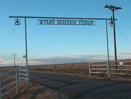 Research Feedlot Front Gate