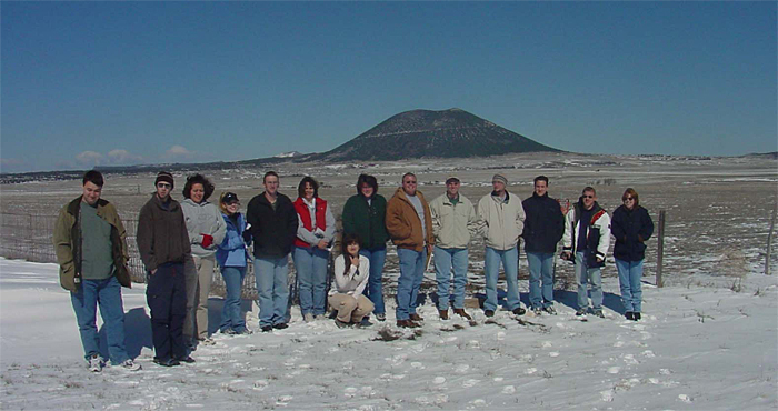 Group photo in New Mexico in winter