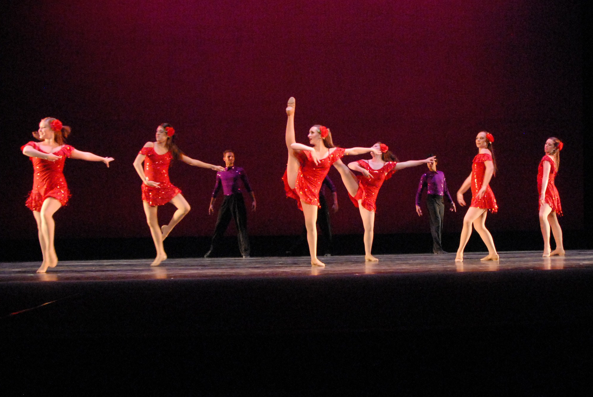 WTAMU Dance student perform the choreograohy of Dennon Rawles
