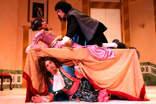 a scene from the bit production Tartuffe