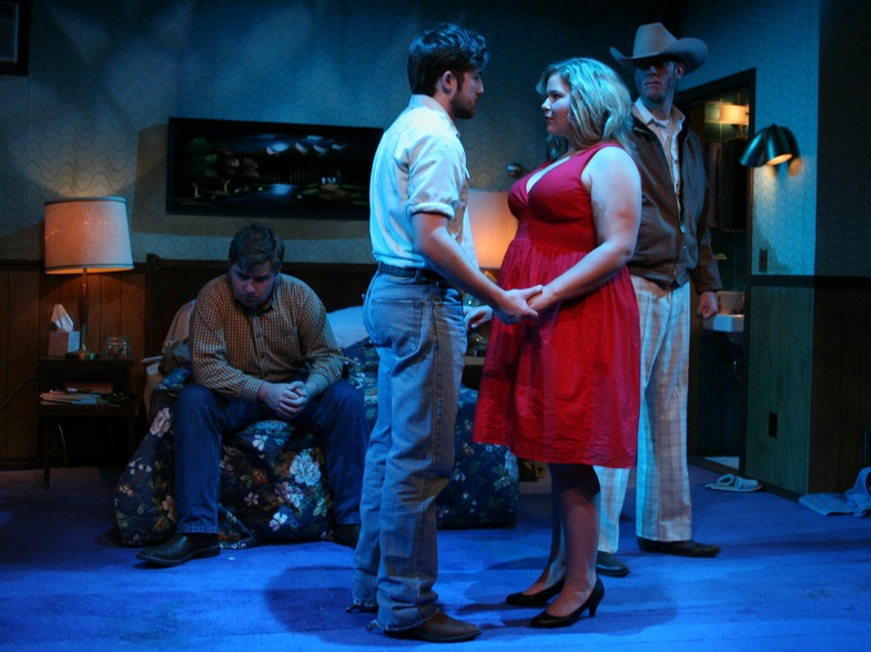 a scene from the bit production Fool for Love