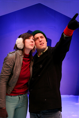 a scene from Almost Maine. By John Cariani. Happy State bank Studio Theatre.