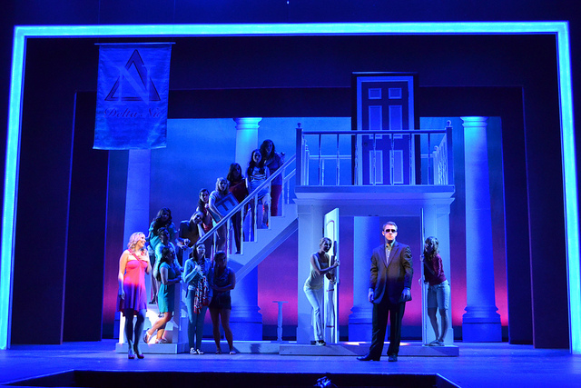 a scene from Legally Blonde the Musical. Branding Iron Theatre.