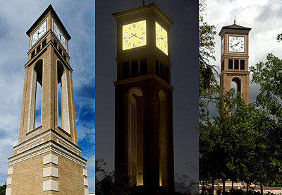 The Hayward Spirit Tower from 3 different angles.