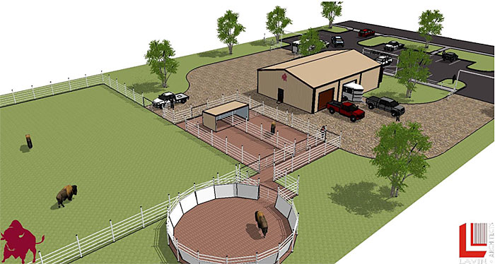 Rendering of the New Herdsmen and Buffalo Facility