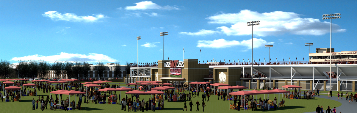 East Entry Rendering View of proposed stadium