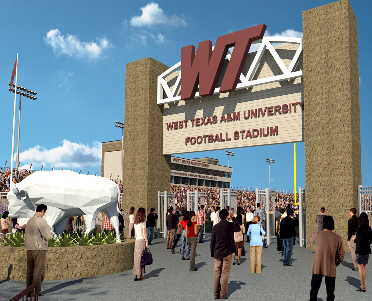 New stadium rendering - south entry