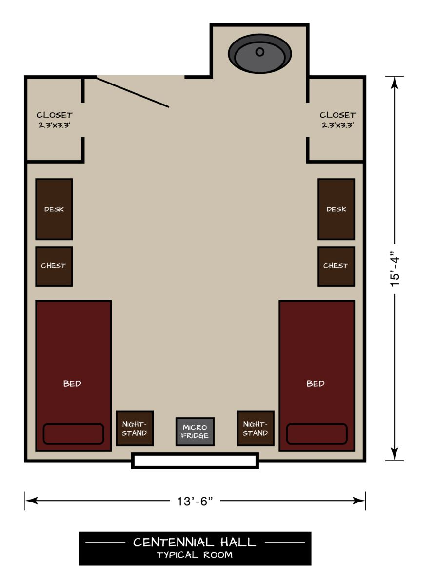 Centennial Hall Floor Plan