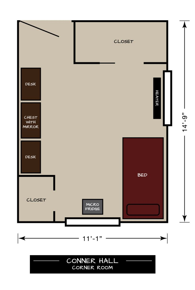 Conner Floor Plan Corner