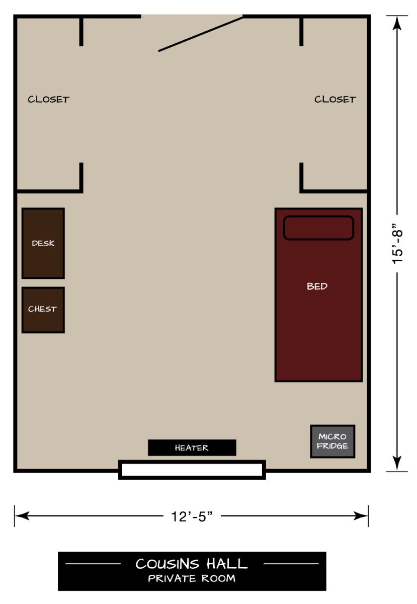 Cousins Floor Plan Private