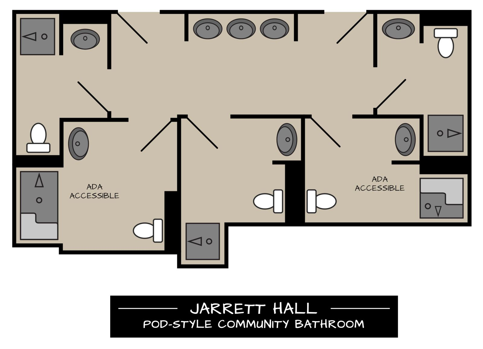 Jarrett Pod-Style Bathrooms