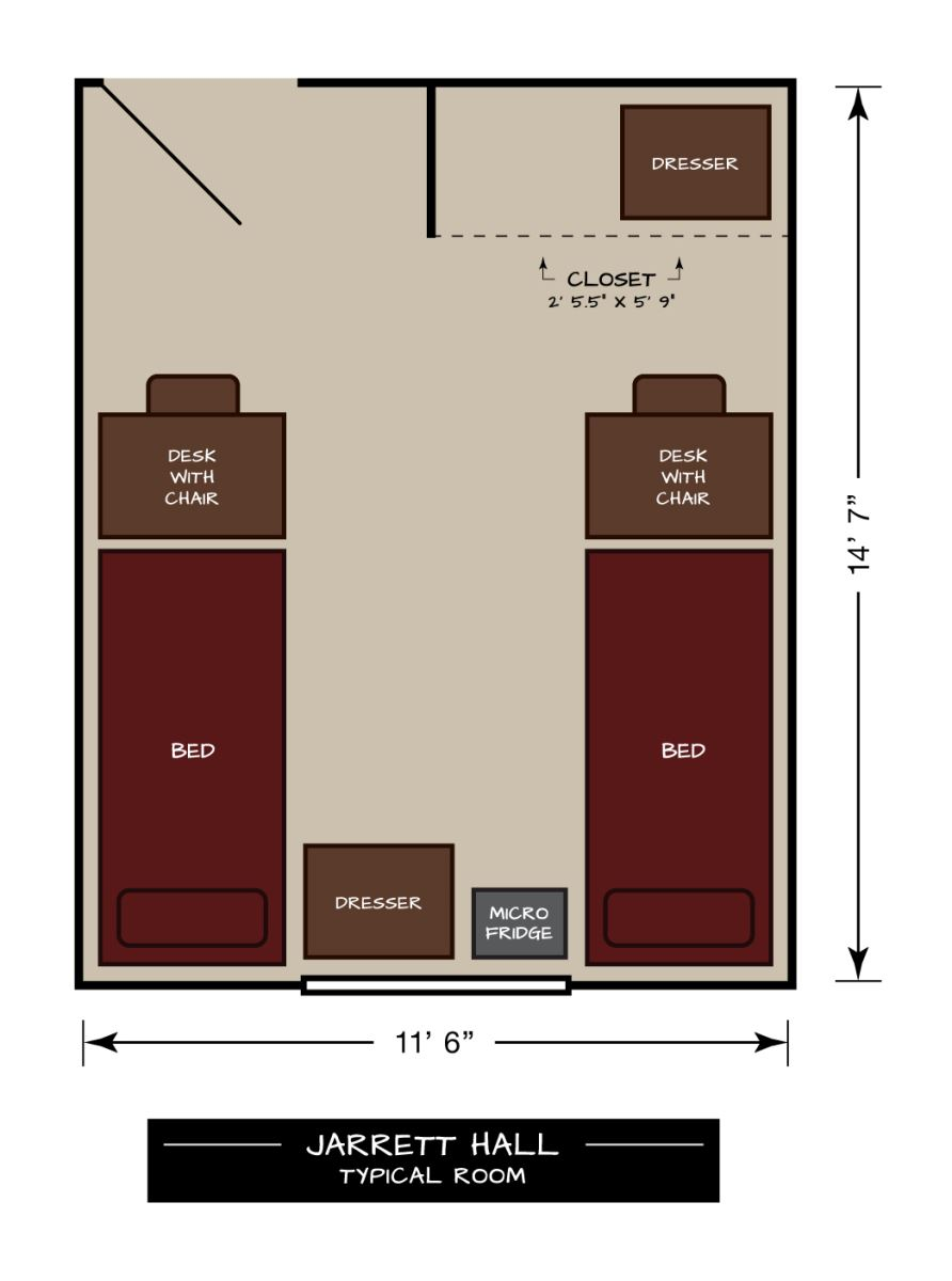 Jarrett Hall Typical Floor Plan