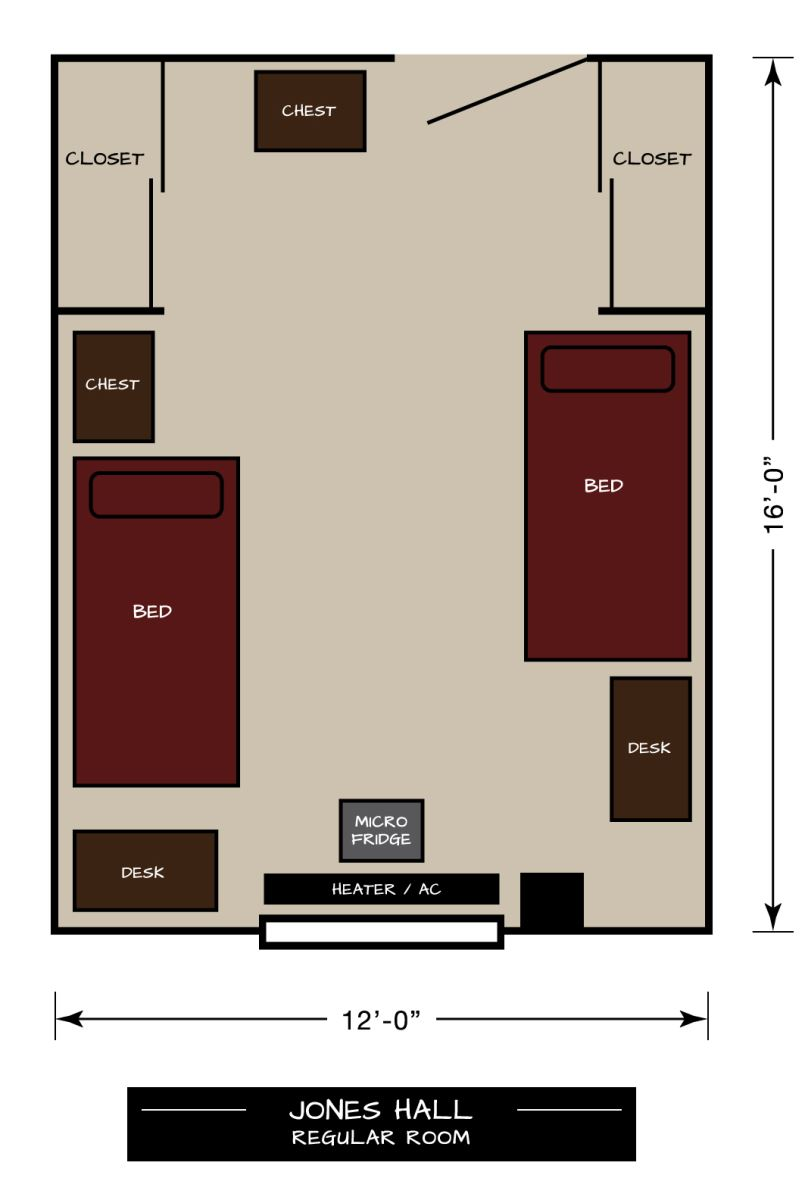 Jones Hall Floor Plan - Regular