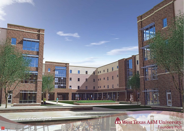 West Texas A Amp M University Residential Living Founders Hall