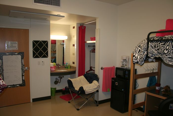 Another view inside a room in Centennial Hall
