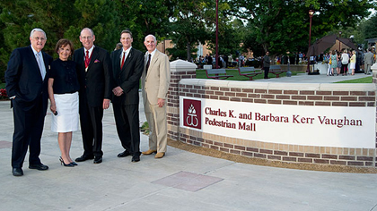 Naming of the Charles K. and Barbara Kerr Vaughn Pedestrian Mall