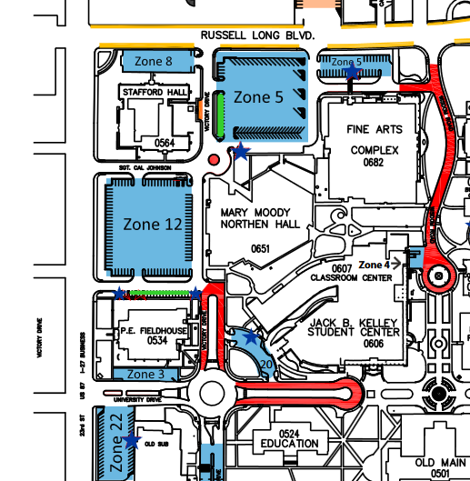 Campus Map Texas Am.West Texas A M University Justice Directions