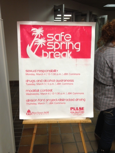 Safe Spring Break Poster