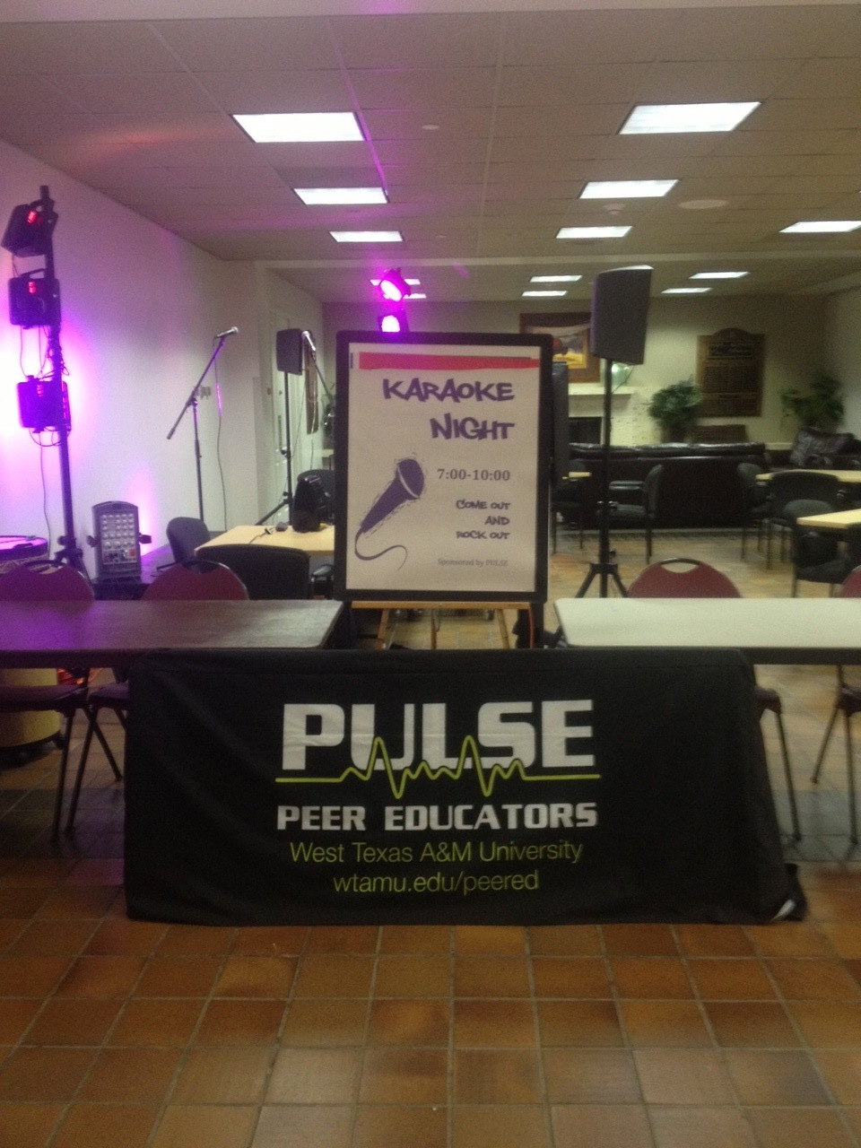 PULSE Booth set up in the JBK Commons