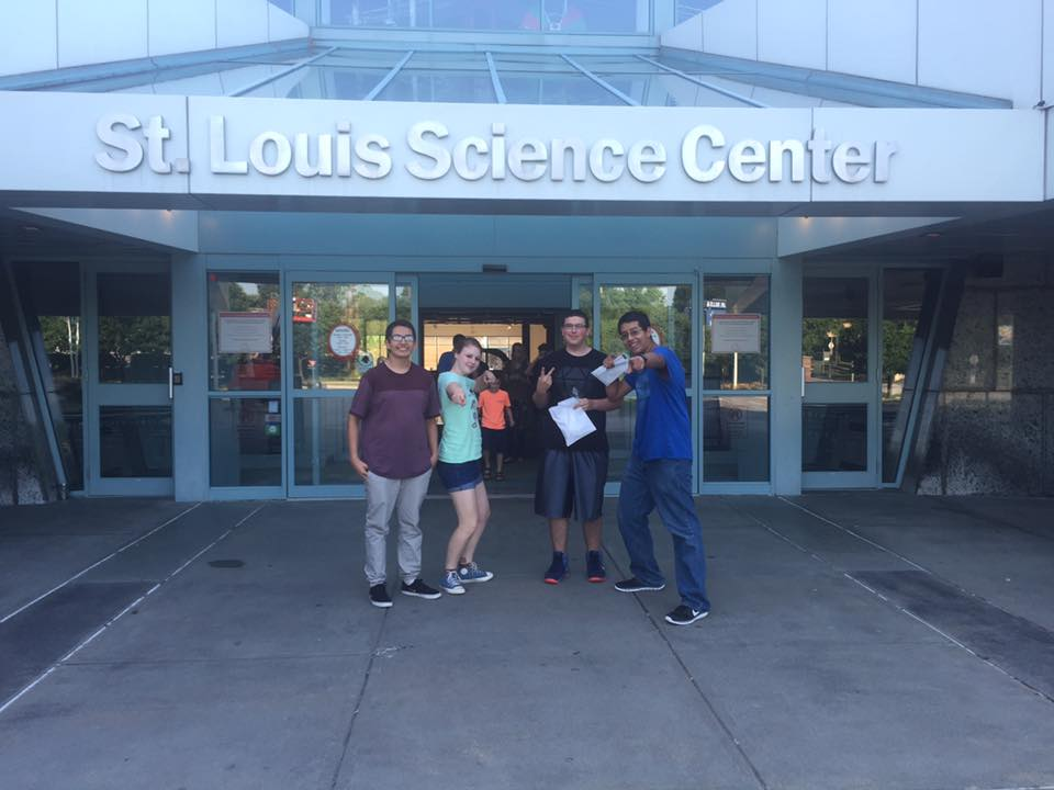 Students at the St. Louis Science Center