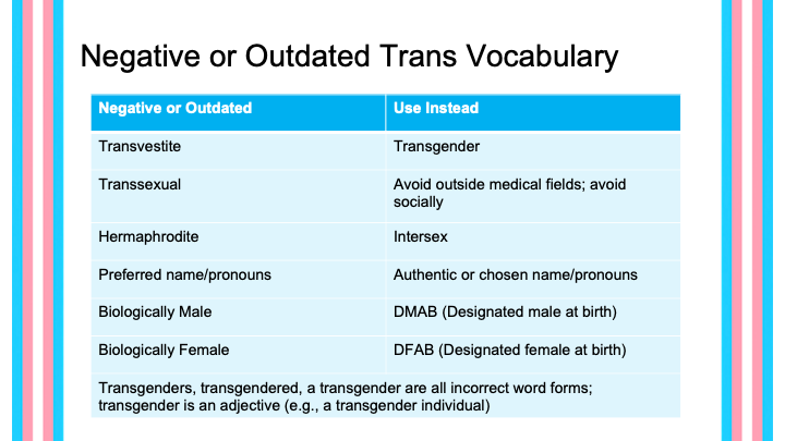 Negative or Outdated trans vocabulary availaable in PDF