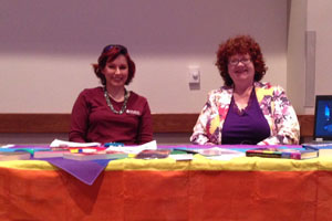 Buff Allies faculty staffing a table at new student orientation