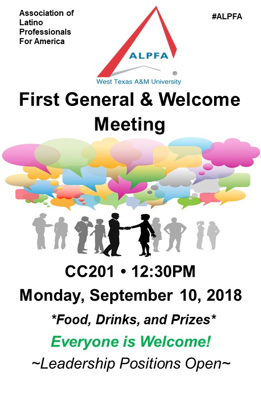 ALPFA's First General and Welcome Meeting