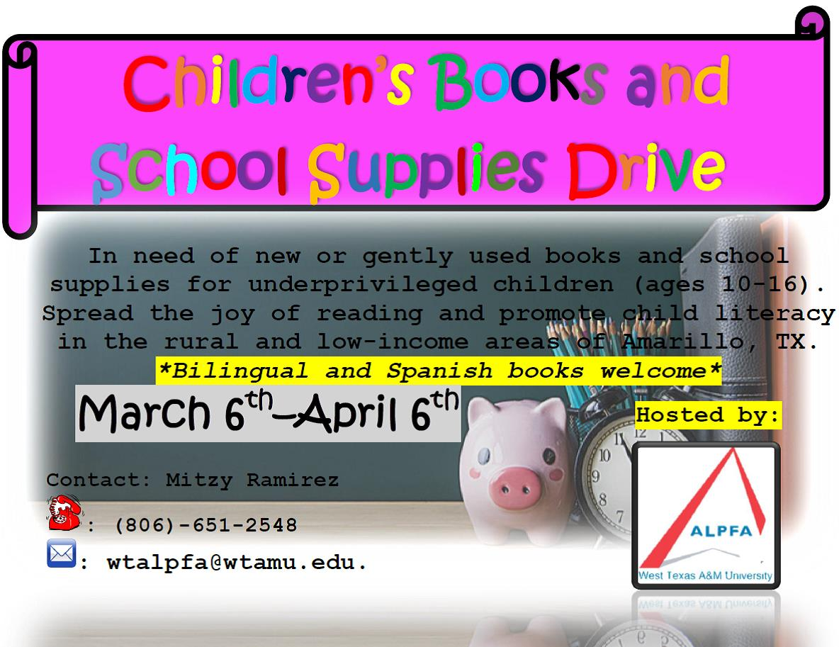 ALPFA Children's Books and School Supplies Drive
