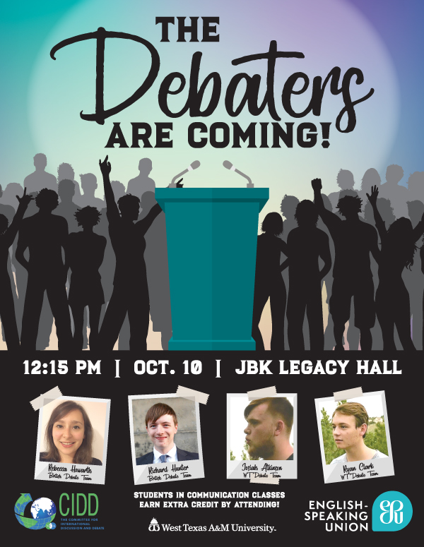 The Debaters Are Coming