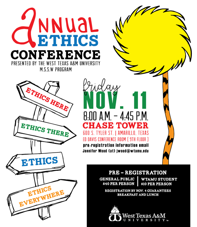 Annual Ethics Conference/Chase Tower (Amarillo, TX)/Nov. 11/ 8 a.m - 4:45 p.m