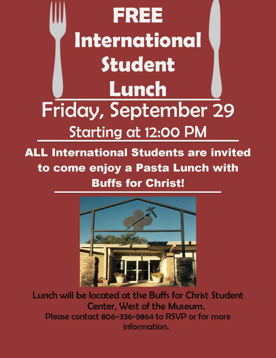 FREE International Student Lunch