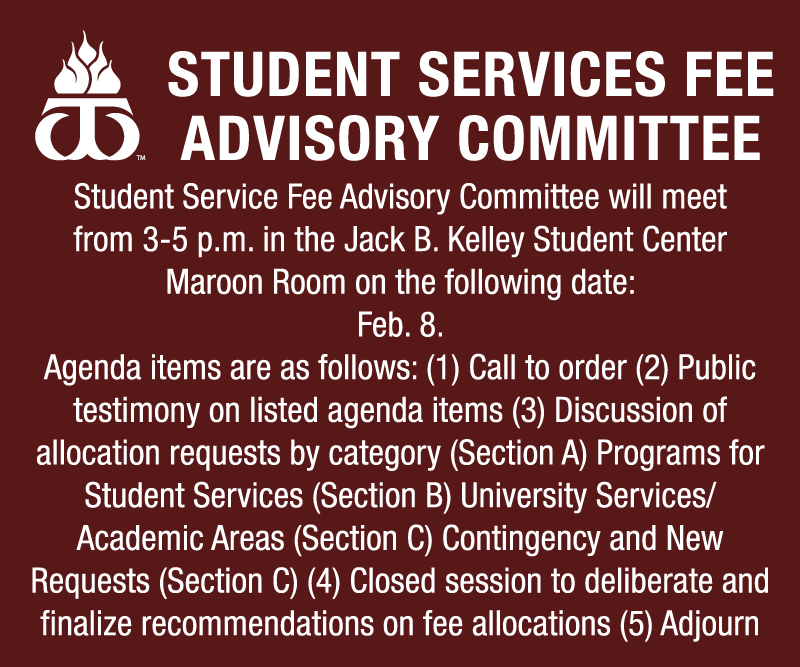 Student Services Fee Advisory Committee