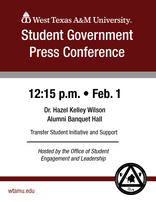 Student Government Press Conference
