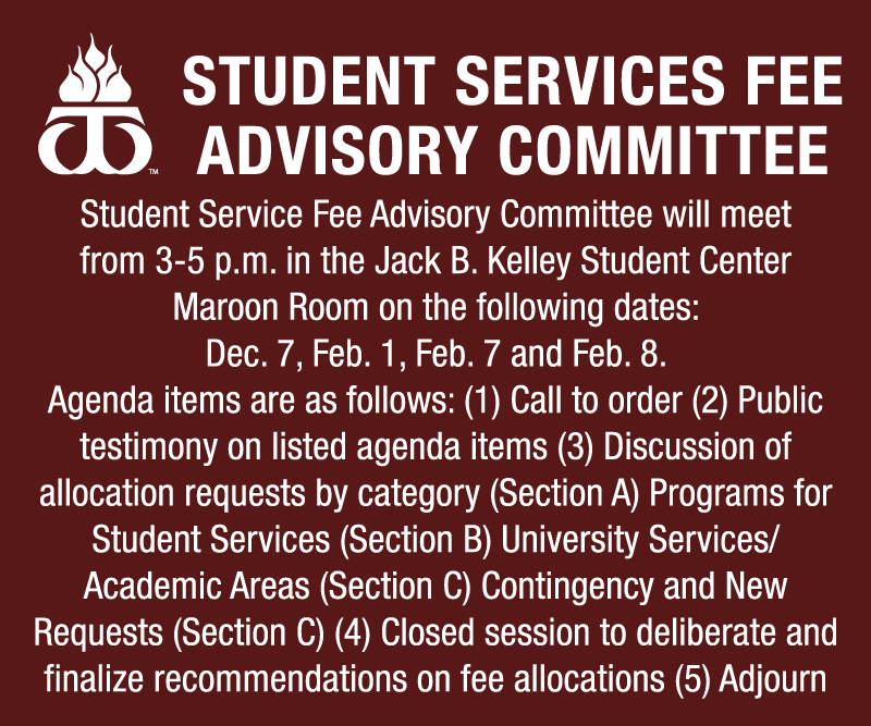 Student Service Advisory Committee