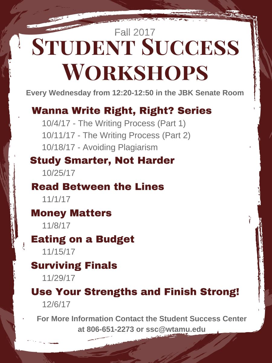 Student Success Workshops