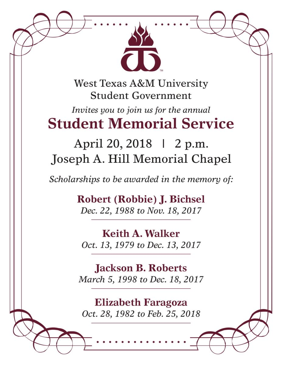 Student Memorial Service