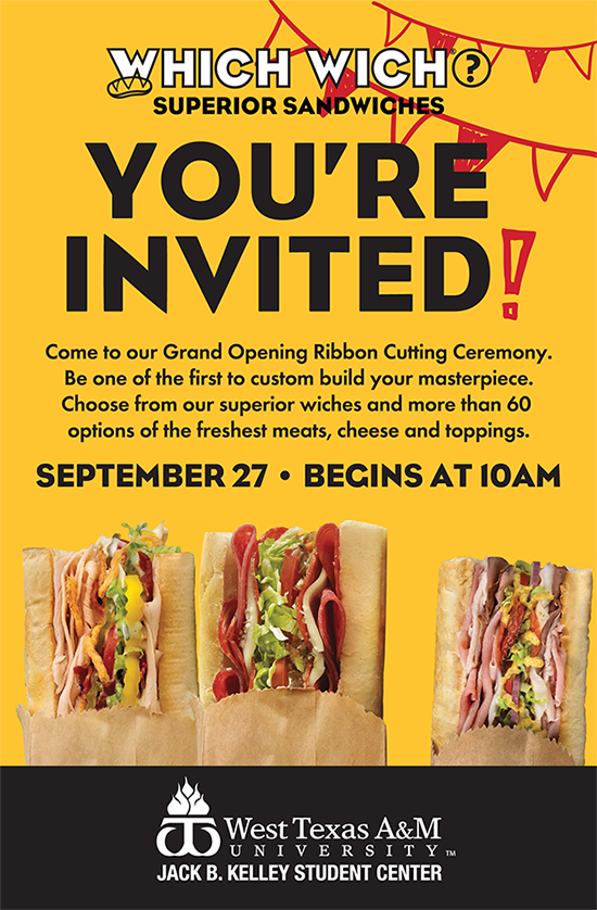 Which Wich Grand Opening Celebration